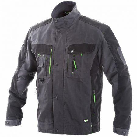 SIRIUS LUCIUS WINTER kabát grafitszürke/lime/fekete